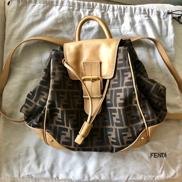 e712284a8483 Fendi Handbags - FENDI zucca logo print mini backpack